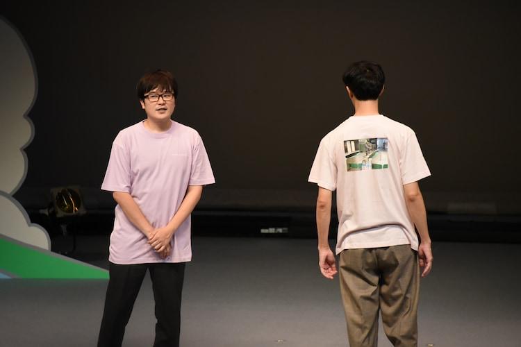 エンディングで「KIPPU de TROUBLE」Tシャツを着用するラバーガール。