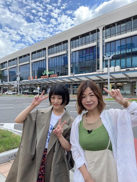 左から高畑充希、大久保佳代子。(c)日本テレビ