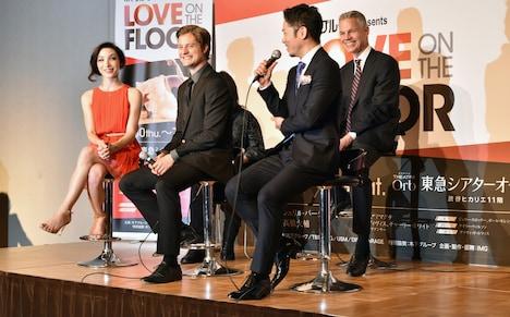「LOVE ON THE FLOOR」記者会見より。左からメリル・ディヴィス、チャーリー・ホワイト、高橋大輔、バイロン・アレン。