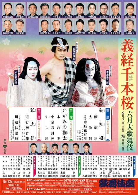 「六月大歌舞伎」チラシ表