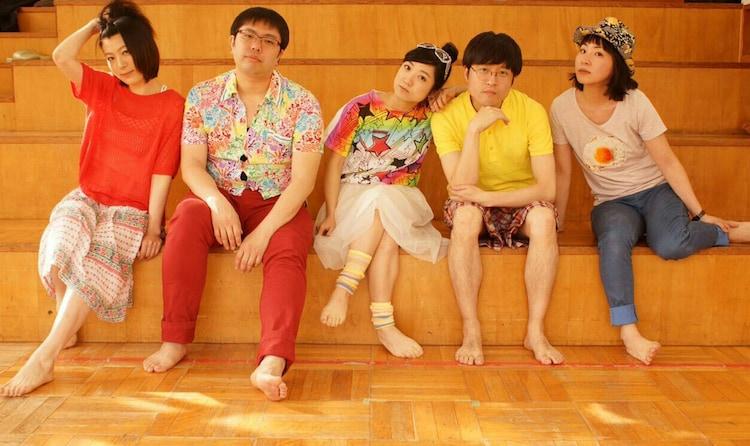 味わい堂々 隠し味公演「枯山水」ビジュアル。左から、宮本奈津美、堀靖明、岸野聡子、細川洋平、浅野千鶴。