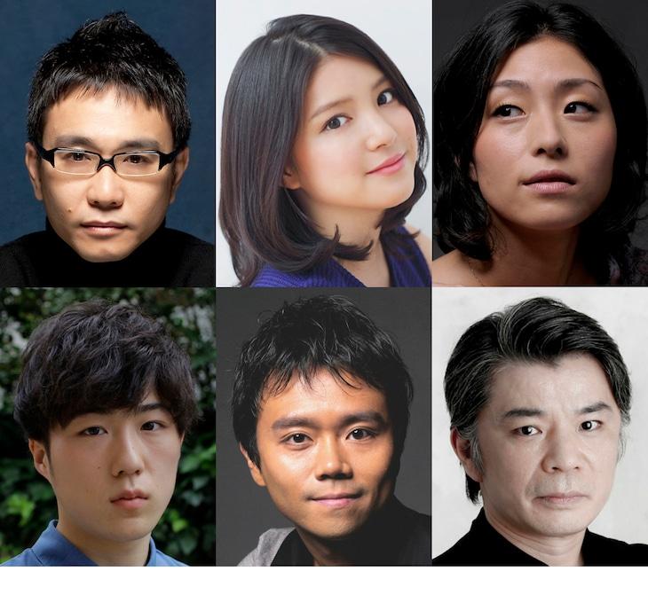 ベッド&メイキングス「あたらしいエクスプロージョン」の出演者。上段左から、八嶋智人、川島海荷、町田マリー、下段左から、大鶴佐助、富岡晃一郎、山本亨。