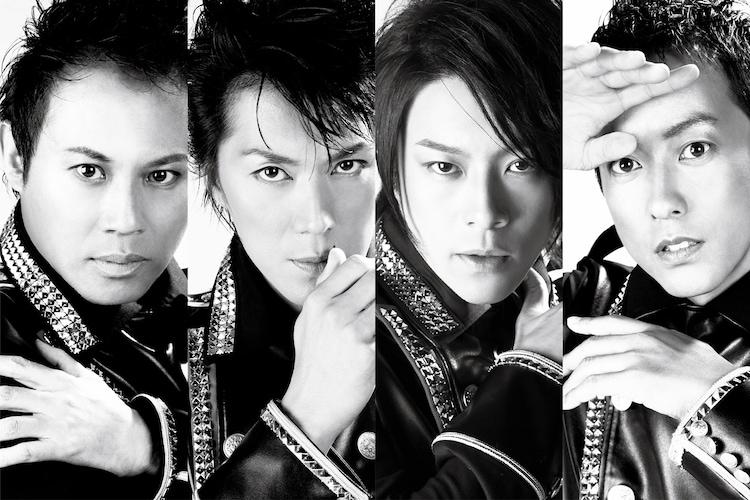 「CLUB SEVEN -ZERO-」出演者。左から玉野和紀、吉野圭吾、東山義久、西村直人。