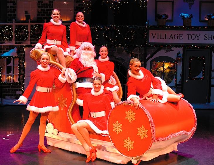 「ブロードウェイ クリスマス・ワンダーランド」アメリカ公演の様子。
