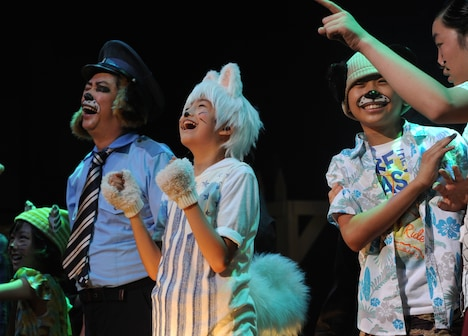 「キッズ・ミュージカル『ワンサくん』-祭りにいくぞ!大脱走!」ゲネプロの様子。