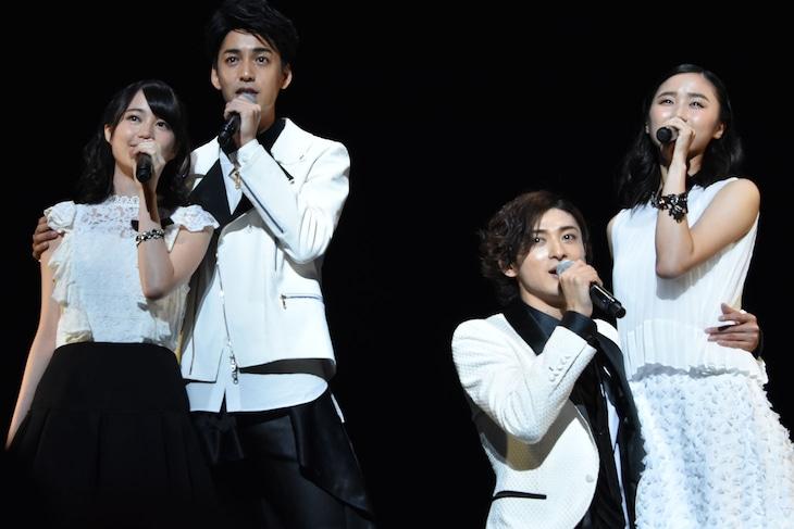ミュージカル「ロミオ&ジュリエット」制作発表より。左から生田絵梨花、大野拓朗、古川雄大、木下晴香。