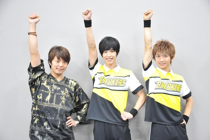 左から伊藤マサミ、本田礼生、古田一紀。