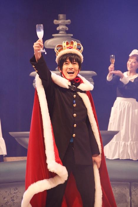 「魔劇『今日から(マ)王!』~魔王暴走編~」ゲネプロより、小西成弥演じる渋谷有利。