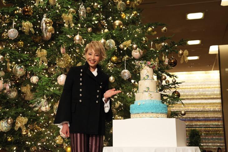 東京・帝国ホテル東京にて行われたクリスマスイルミネーションの点灯式より、柚希礼音。