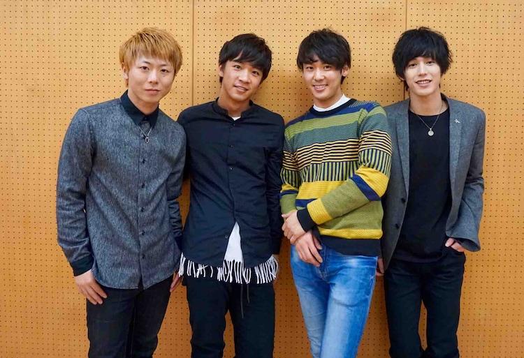 「THE CONVOY SHOW vol.32『asiapan』」に出演する新メンバー。左から後藤健流、荒田至法、佐久間雄生、本田礼生。