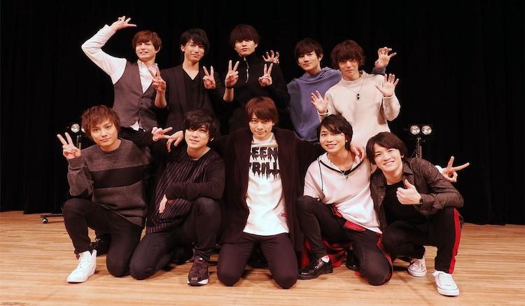 上段左から瑛、奥谷知弘、小南光司、赤澤遼太郎、櫻井圭登。下段左から松村泰一郎、山本一慶、小澤廉、谷水力、小西成弥。