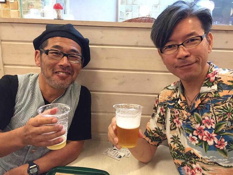 「水曜どうでしょう」ディレクター。左から藤村忠寿、嬉野雅道。