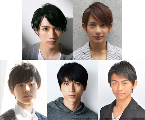 上段左から松本岳、橋本祥平。下段左から上村海成、小松準弥、野見山拳太。