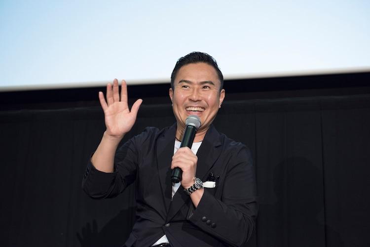 シネマ歌舞伎「富金御目見得東海道」舞台挨拶より。市川右團次。