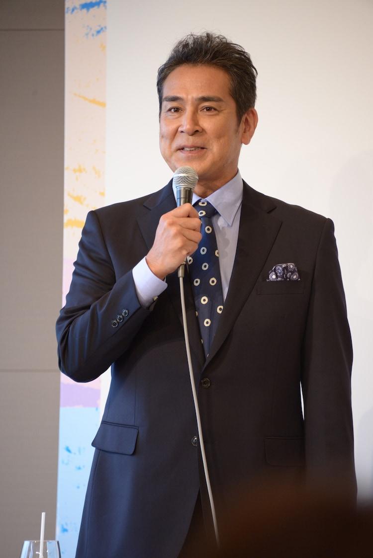 ミュージカル「にんじん」製作発表記者会見より。宇梶剛士