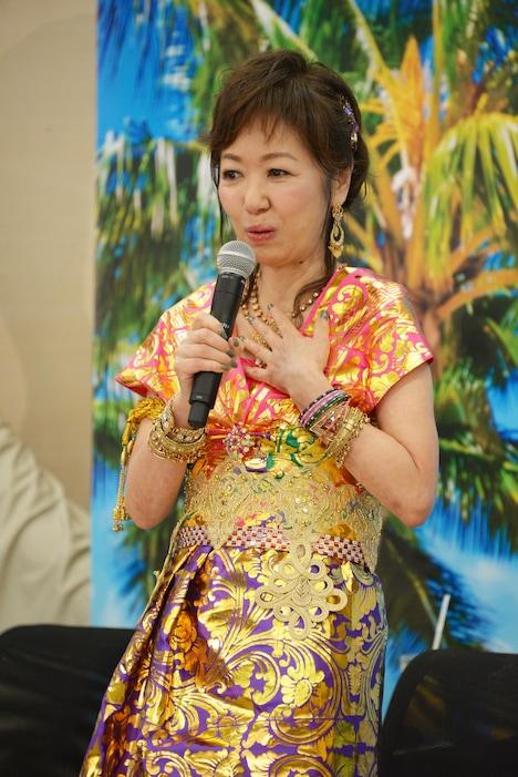 「ミッドナイト・イン・バリ~史上最悪の結婚前夜~」製作発表より。浅田美代子