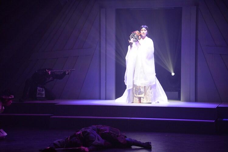 「アラタ~ALATA~」ゲネプロより。吉田美佳子演じる千代姫。