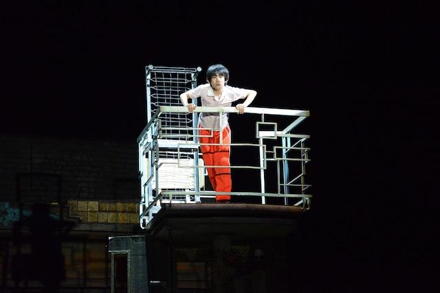 ミュージカル「ビリー・エリオット~リトル・ダンサー~」プレスコールより、前田晴翔演じるビリー。