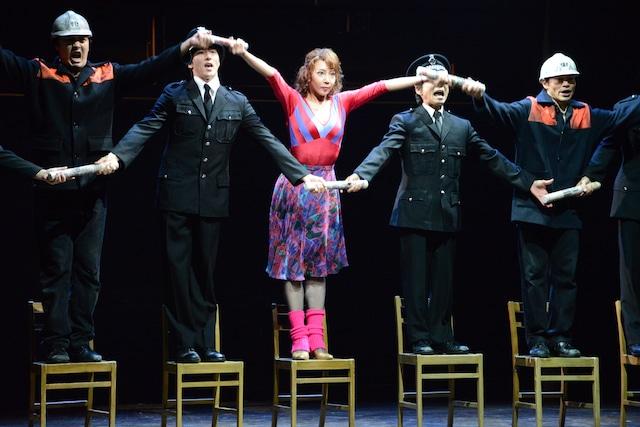 ミュージカル「ビリー・エリオット~リトル・ダンサー~」プレスコールの様子。