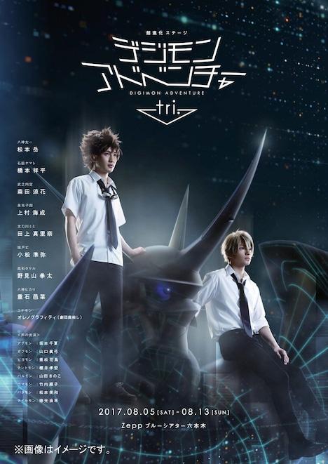 「超進化ステージ『デジモンアドベンチャー tri. ~8月1日の冒険~』」ビジュアル