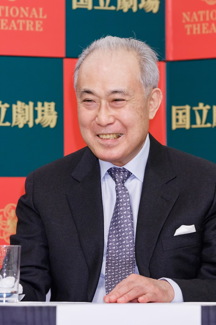 国立劇場「12月歌舞伎公演」記者会見より。中村吉右衛門。