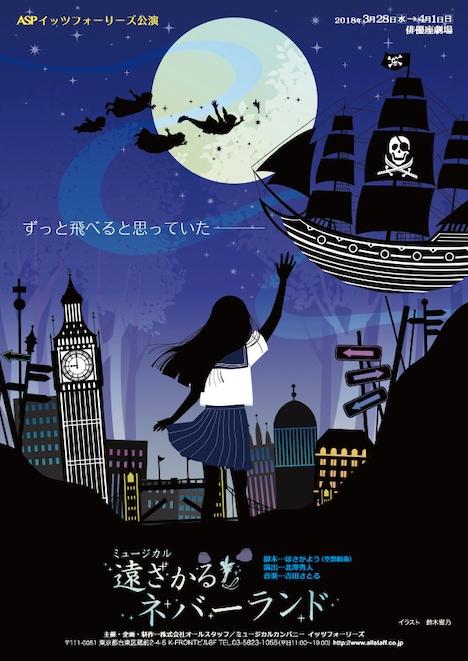 ASPイッツフォーリーズ公演 ミュージカル「遠ざかるネバーランド」チラシ表