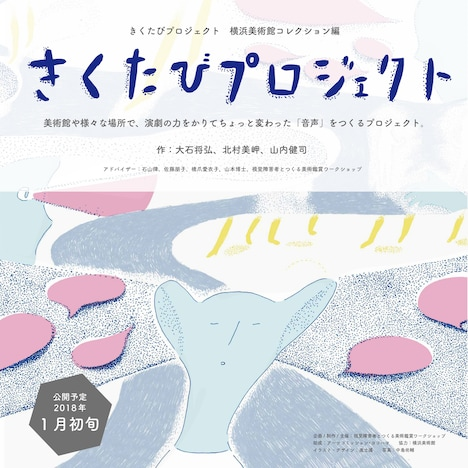 「きくたびプロジェクト 横浜美術館コレクション編」チラシ