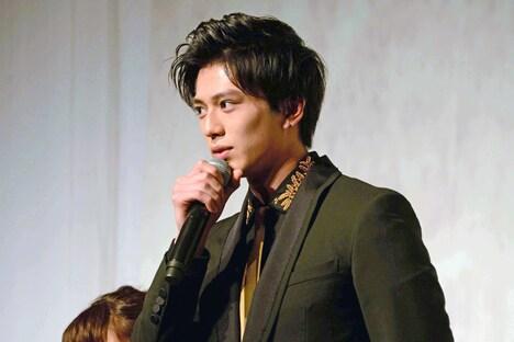 地球ゴージャスプロデュース公演Vol.15「ZEROTOPIA」製作発表より、新田真剣佑。