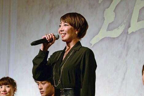 地球ゴージャスプロデュース公演Vol.15「ZEROTOPIA」製作発表より、柚希礼音。