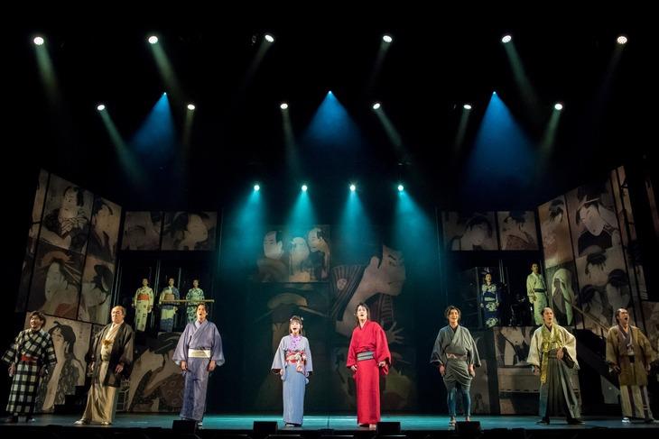 cube 20th Presents Japanese Musical「戯伝写楽 2018」ゲネプロより。(撮影:桜井隆幸)