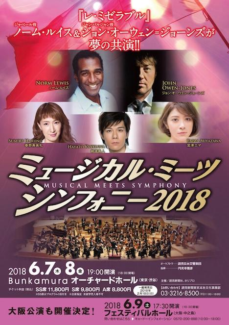 「ミュージカル・ミーツ・シンフォニー2018」チラシ