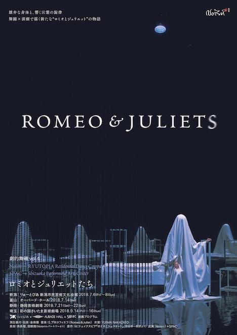 Noism1×SPAC 劇的舞踊 vol.4「ROMEO&JULIETS」チラシ表
