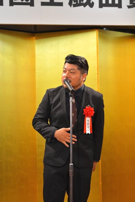 第62回岸田國士戯曲賞授賞式より。福原充則。