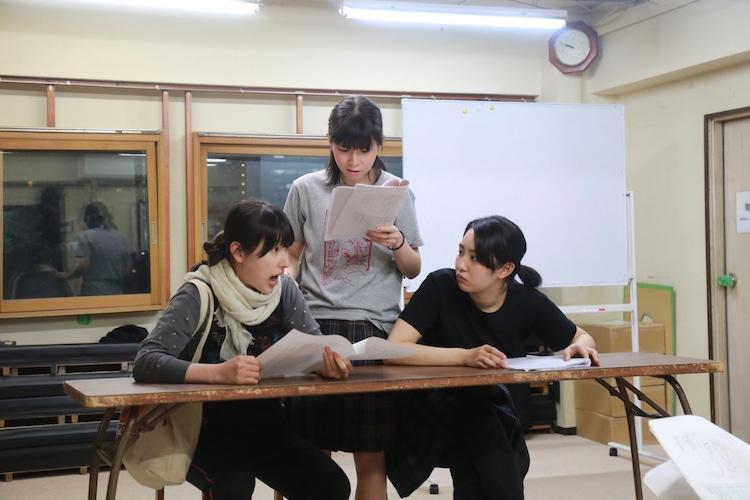 田上パル 第17回公演「Q学」稽古の様子。