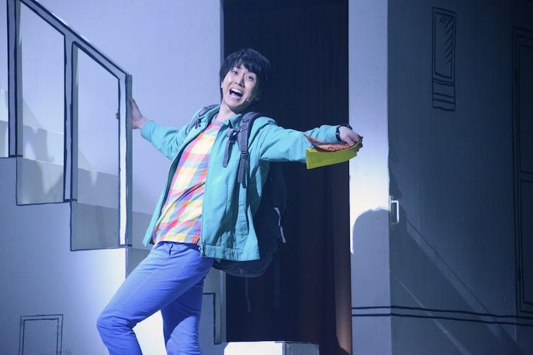 ミュージカル「アメリ」公開ゲネプロより。太田基裕演じるニノ。