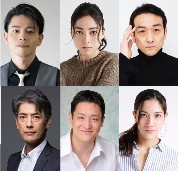 上段左から吉沢悠、美波、吹越満、下段左から堀部圭亮、粟野史浩、土井ケイト。