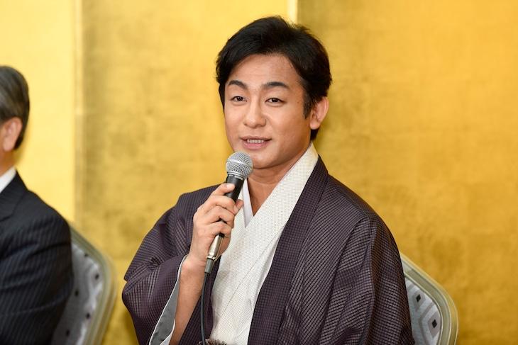 「松竹大歌舞伎」西コース製作発表より。片岡愛之助。