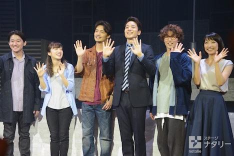 左から西川大貴、梅田彩佳、上口耕平、福田悠太(ふぉ~ゆ~)、内藤大希、谷口あかり。