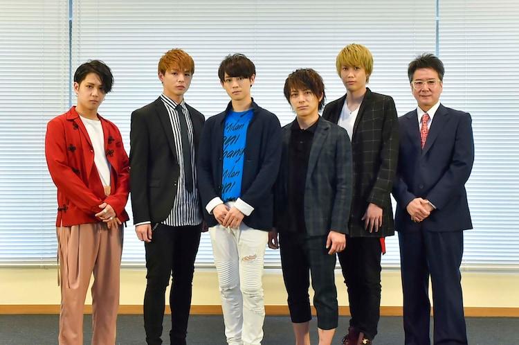 「GRIEF7」製作発表より、左からSHUN、加藤良輔、カラム、米原幸佑、碕理人、錦織一清。