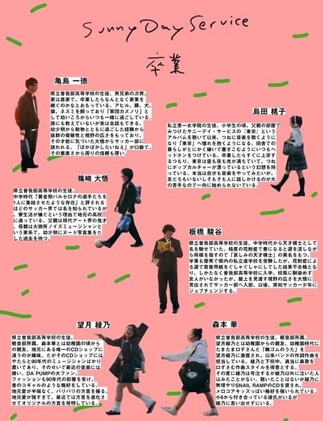 サニーデイ・サービス「卒業」MVの登場人物紹介。