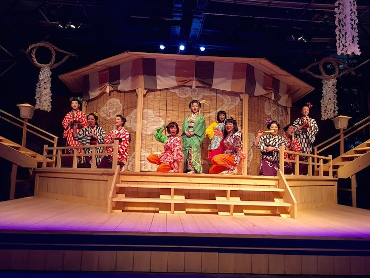椿組2018年夏・花園神社野外劇「『天守物語』-夜叉ヶ池編- 2018」より。