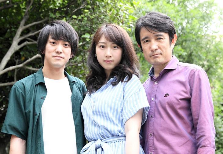 左から関根翔太、大滝真実、西川浩幸。