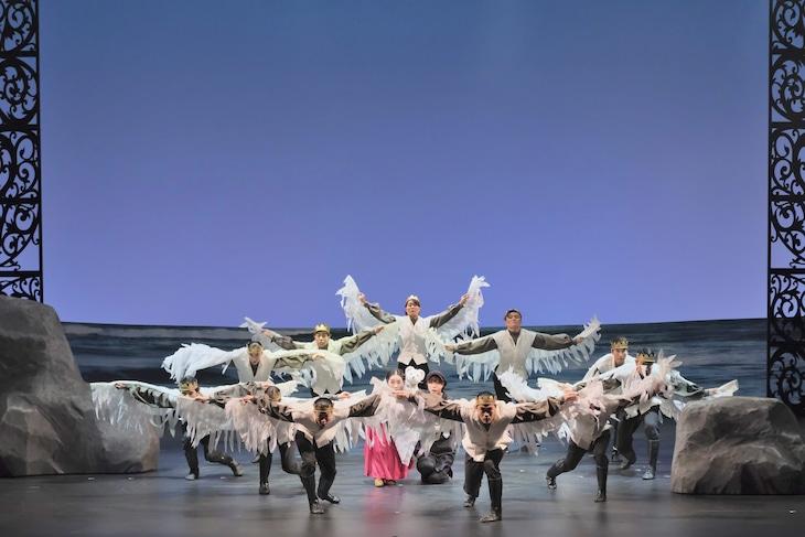 ダンス×人形劇「エリサと白鳥の王子たち」より。(撮影:三枝近志)