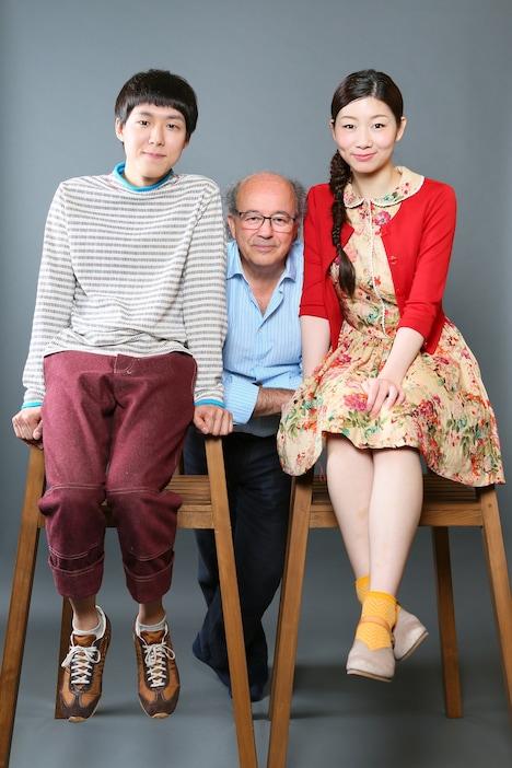 左から小日向星一、ジェルヴェ・ゴドロ、土居志央梨。(撮影:宮川舞子)