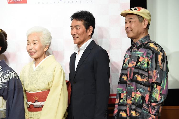 左から正司花江、天宮良、佐藤正宏。
