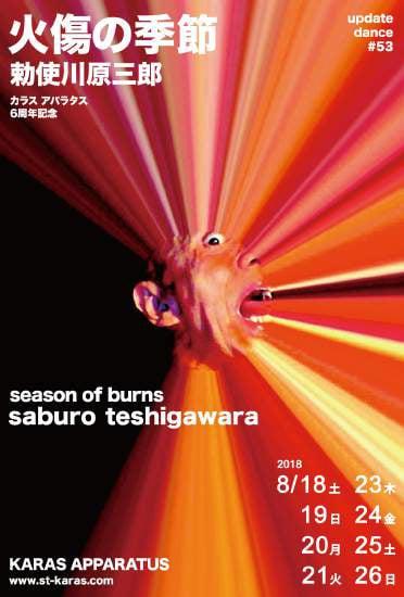 アップデイトダンスシリーズ No.53「火傷の季節」チラシ