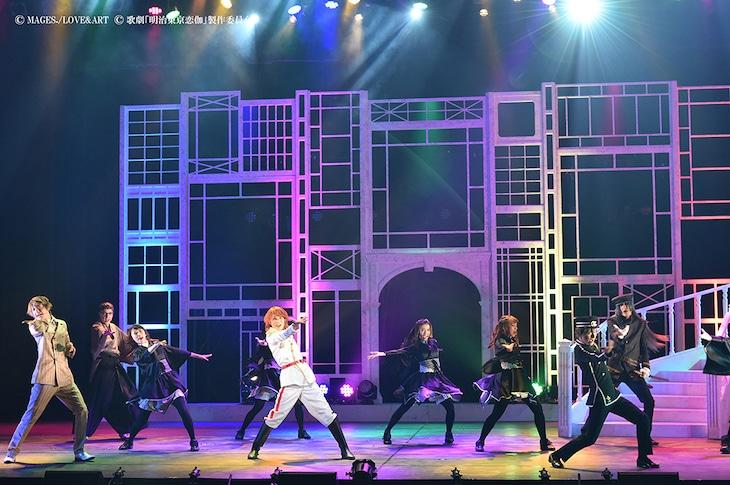 歌劇「明治東亰恋伽~月虹の婚約者~」より。オープニングダンスの様子。