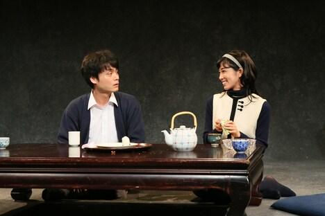 文学座9月アトリエの会「かのような私‐或いは斎藤平の一生-」ゲネプロより。(撮影:宮川舞子)
