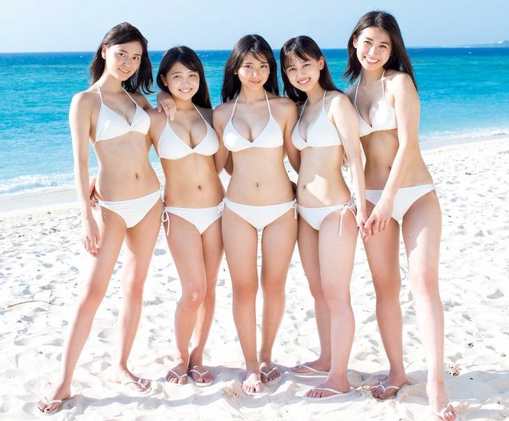 左から池松愛理、寺本莉緒、沢口愛華、岡田佑里乃、佐藤あいり。