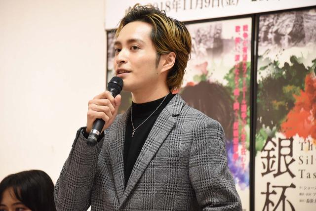 「The Silver Tassie 銀杯」制作発表会より、矢田悠祐。